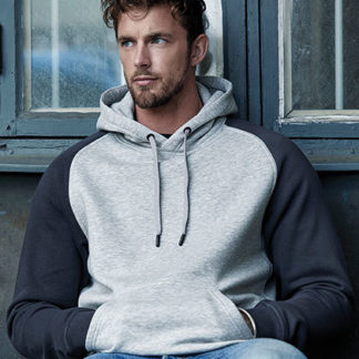 two tone hooded sweat